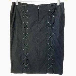 Guess Collection Skirt Lace Up Back Rear Straight